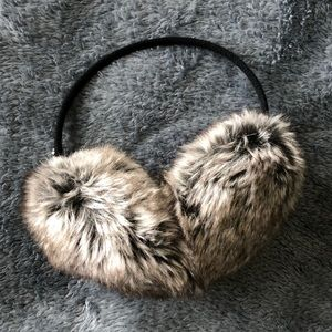 VICTORIAS SECRET FAUX FUR EAR MUFFS